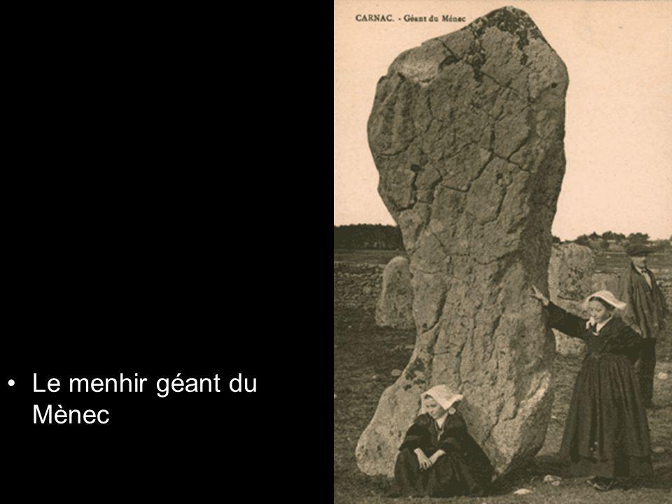 Le menhir géant du Mènec