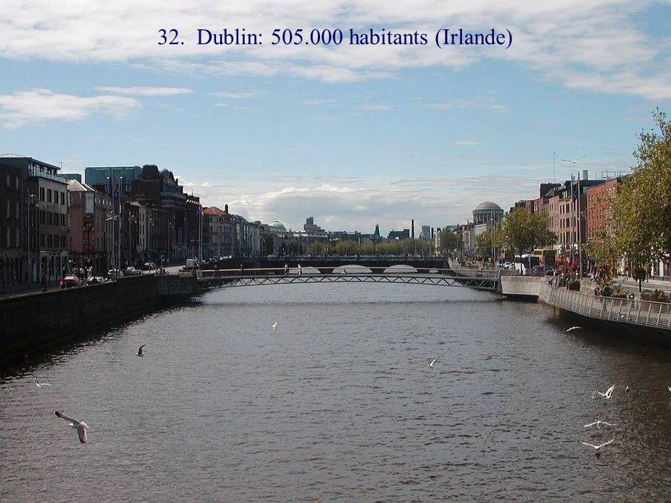 33. Edimbourg: 480.000 habitants (Ecosse)