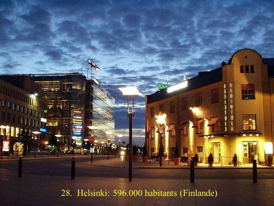 29. Vilnius: 560.000 habitants (Lituanie)