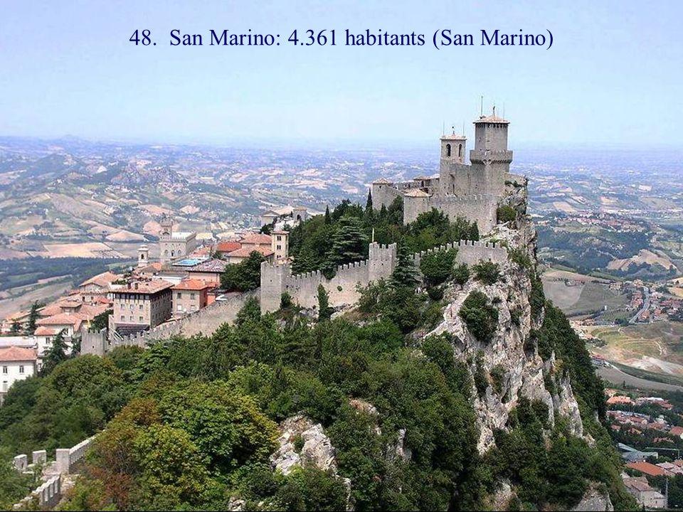 49. Monte Carlo: 1.151 habitants (Monaco)