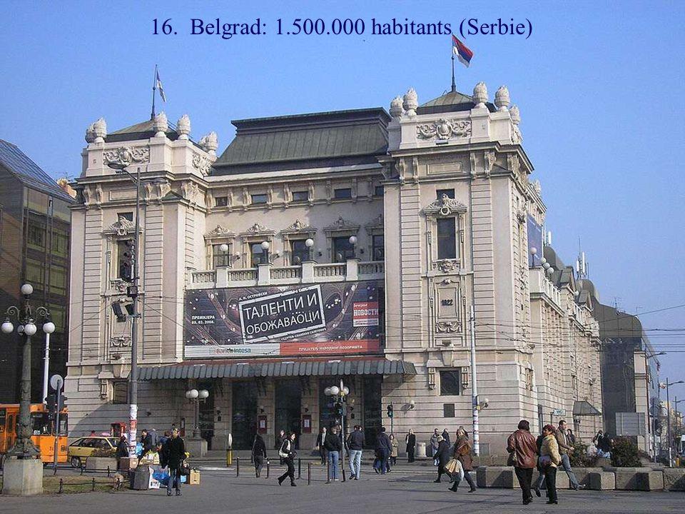 17. Sofia: 1.400.000 habitants (Bulgarie)