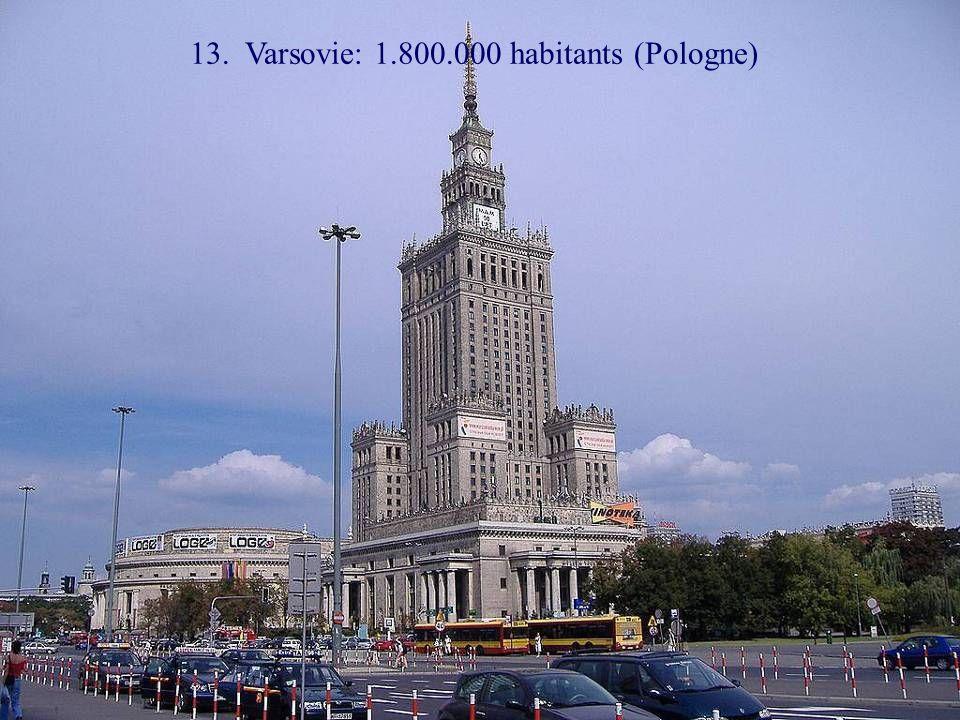 14. Vienne: 1.700.000 habitants (Autriche)