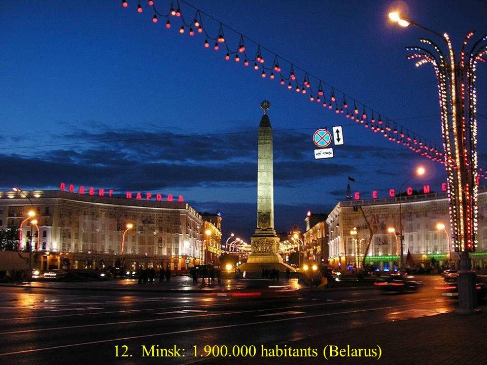 13. Varsovie: 1.800.000 habitants (Pologne)