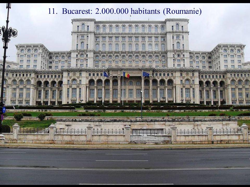 12. Minsk: 1.900.000 habitants (Belarus)