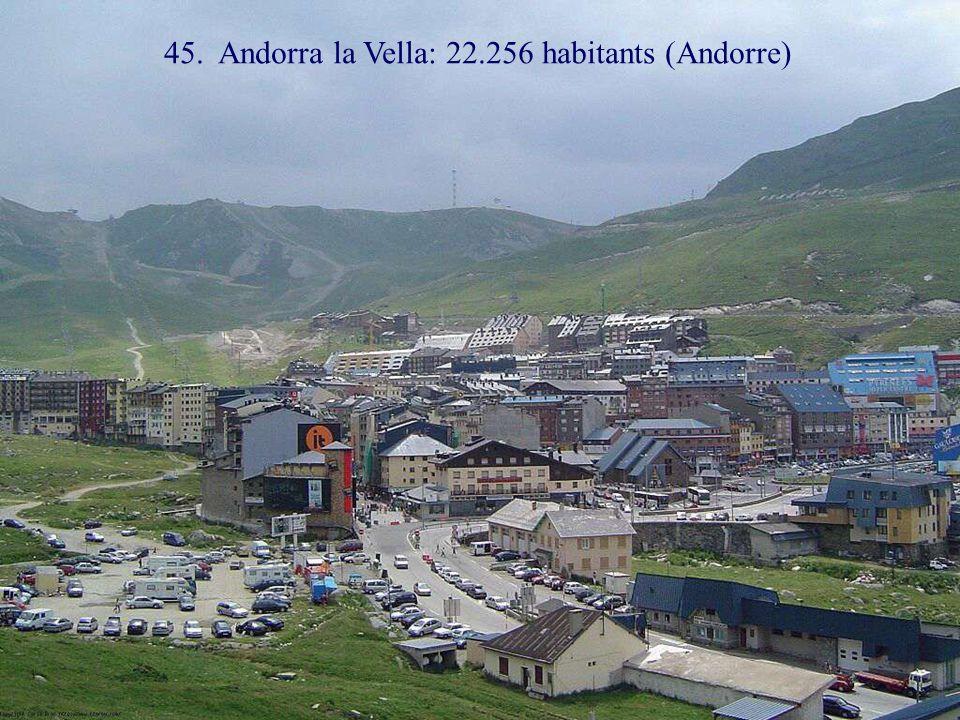 46. La Vallette: 6.098 habitants (Malte)