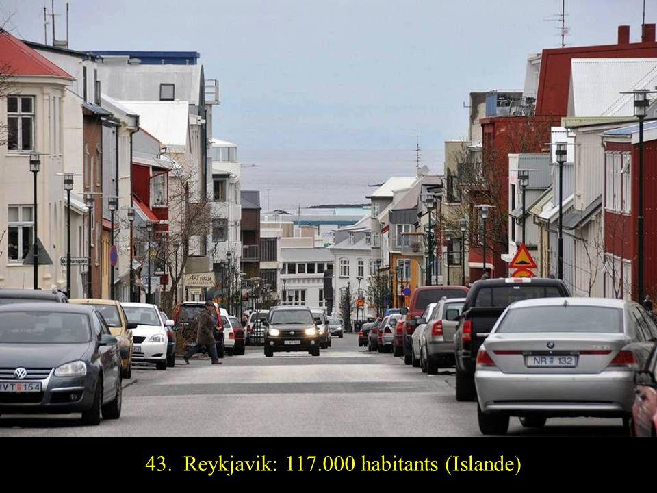 44. Luxembourg: 104.000 habitants (Luxembourg)