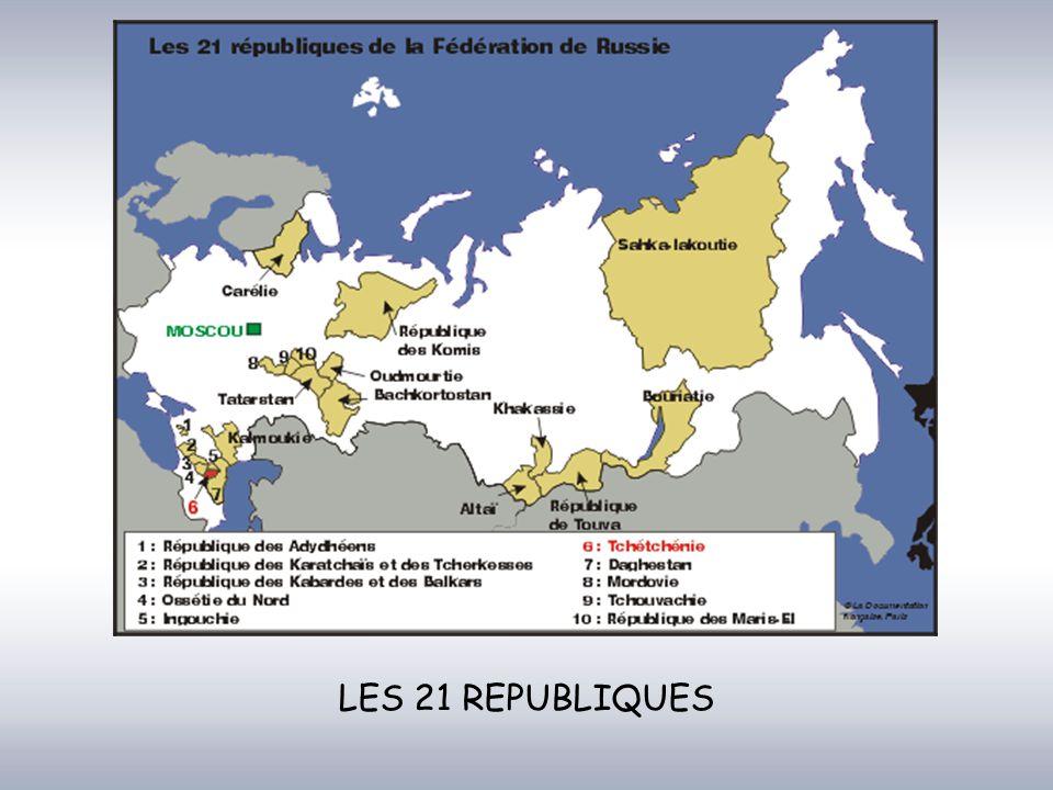 LES 21 REPUBLIQUES