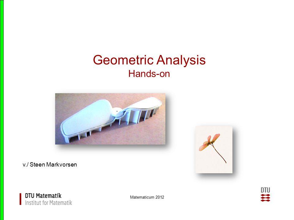 Matematicum 2012 Geometric Analysis Matematicum