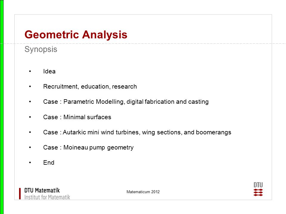 Matematicum 2012 Geometric Analysis Minimal surfaces, Costa's minimal surface