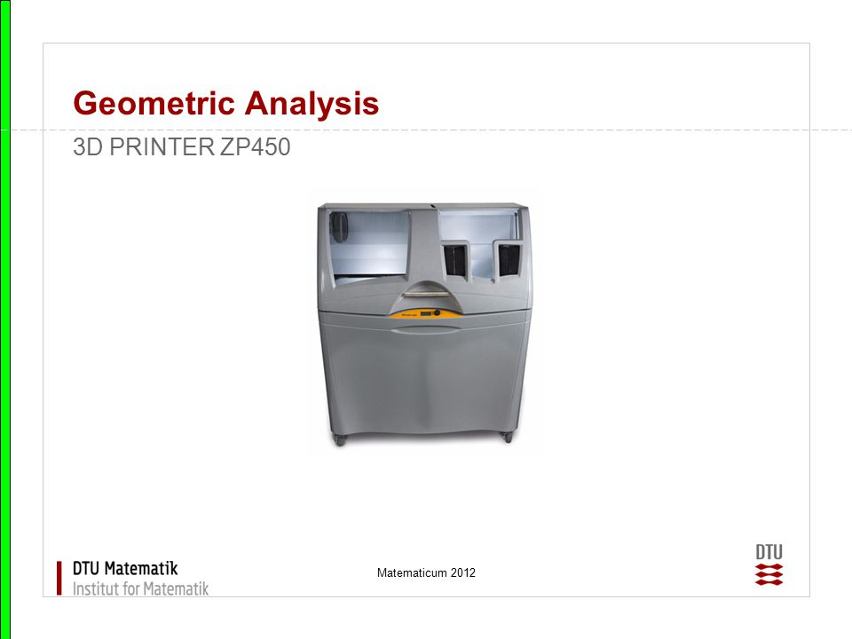 Matematicum 2012 Geometric Analysis Mini wind turbine, hands-on