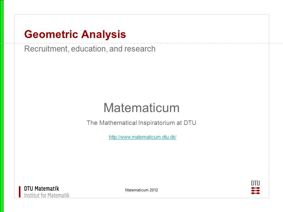 Matematicum 2012 Geometric Analysis MOINEAU PUMPS An ESGI project from Grundfos A/S Moineau pumps