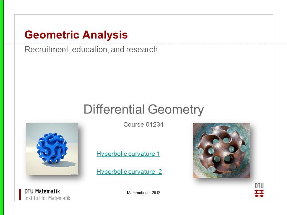 Matematicum 2012 Geometric Analysis Minimal surfaces, Costa, hands-on