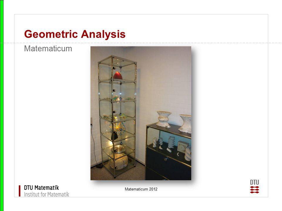 Matematicum 2012 Geometric Analysis ESGI What is ESGI.