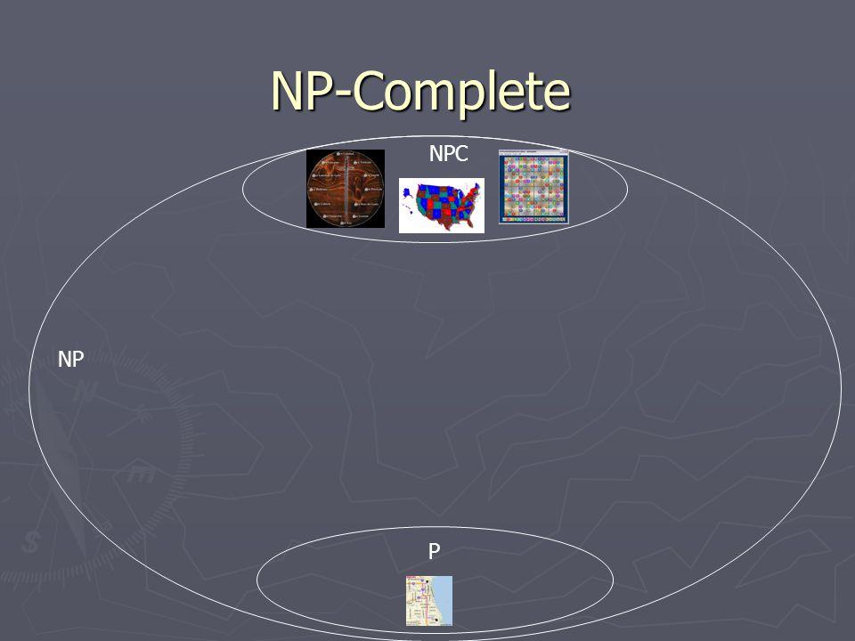 NP-Complete NP P NPC