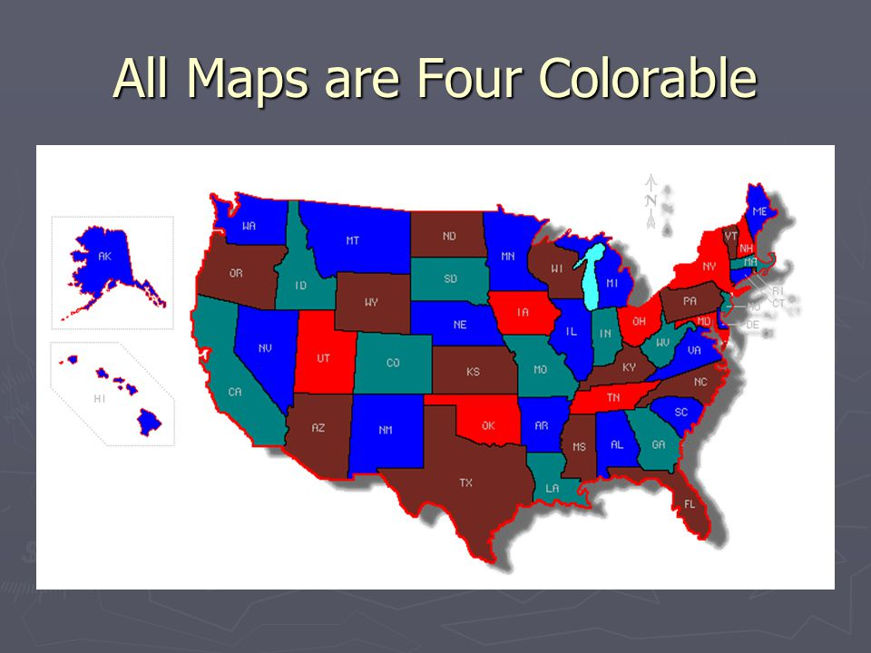 All Maps are Four Colorable