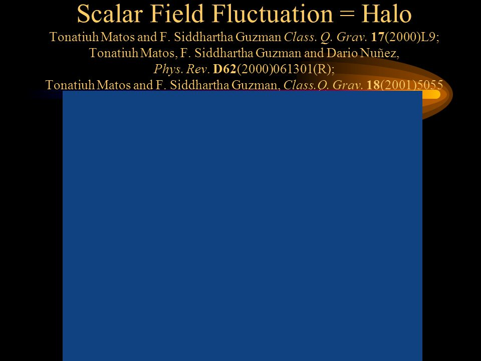 Scalar Field Fluctuation = Halo Tonatiuh Matos and F.