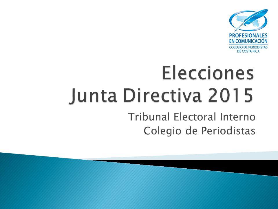 Tribunal Electoral Interno Colegio de Periodistas
