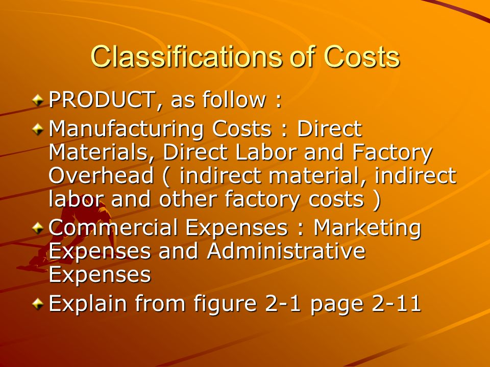 Classifications of Costs VOLUME OF PRODUCTION, as follow: Variable Cost change in proportion to changes in activity within a relevant range.