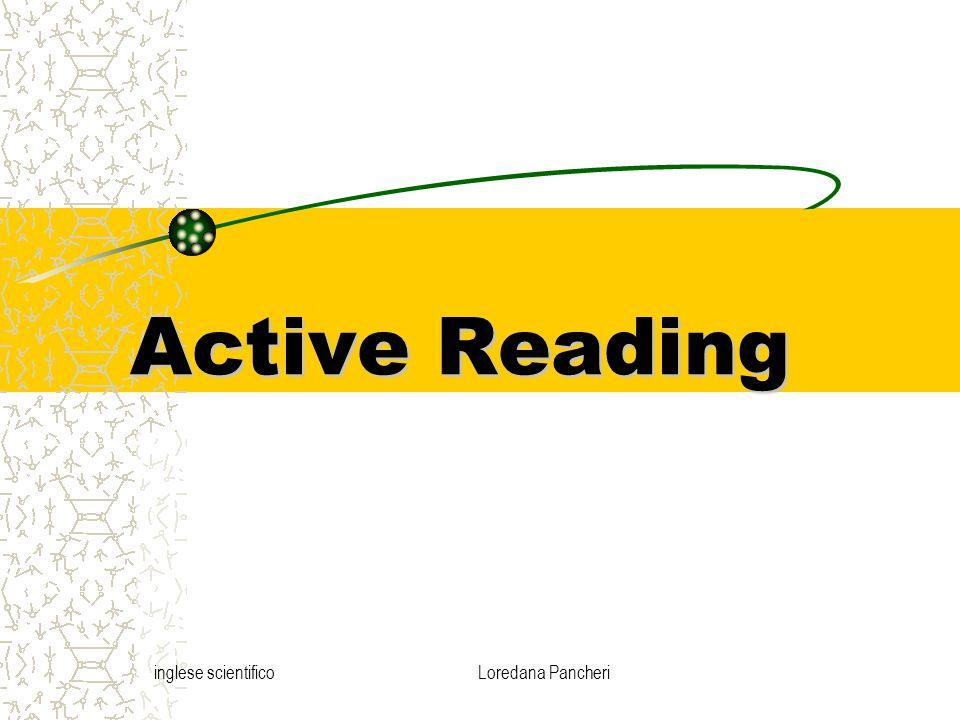inglese scientificoLoredana Pancheri Active Reading