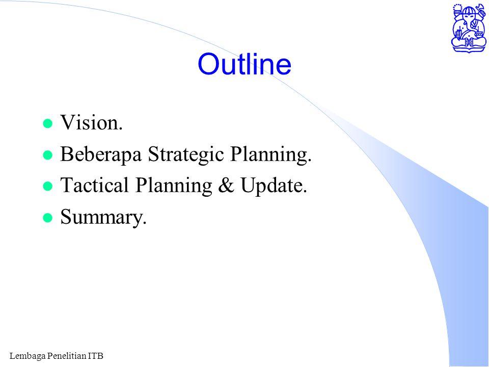 Lembaga Penelitian ITB Vision l Information Technology (IT) literate human resources.