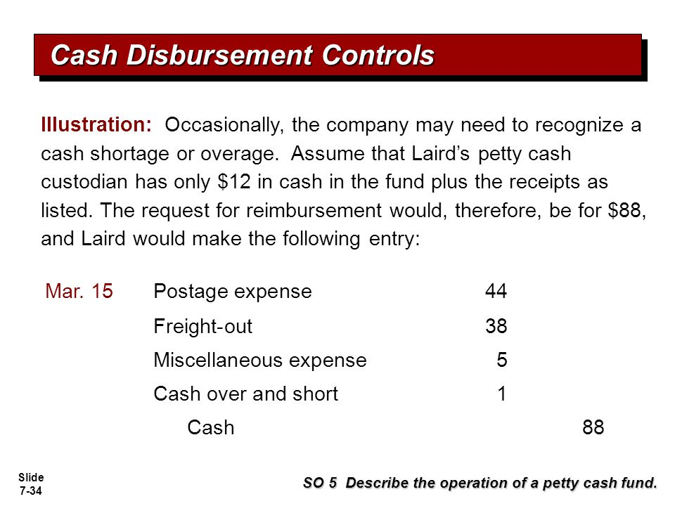 Slide 7-35 Contributes to good internal control over cash.