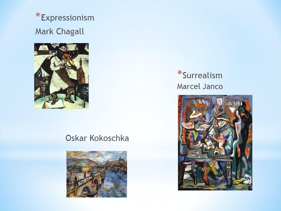 * Expressionism Mark Chagall Oskar Kokoschka * Surrealism Marcel Janco