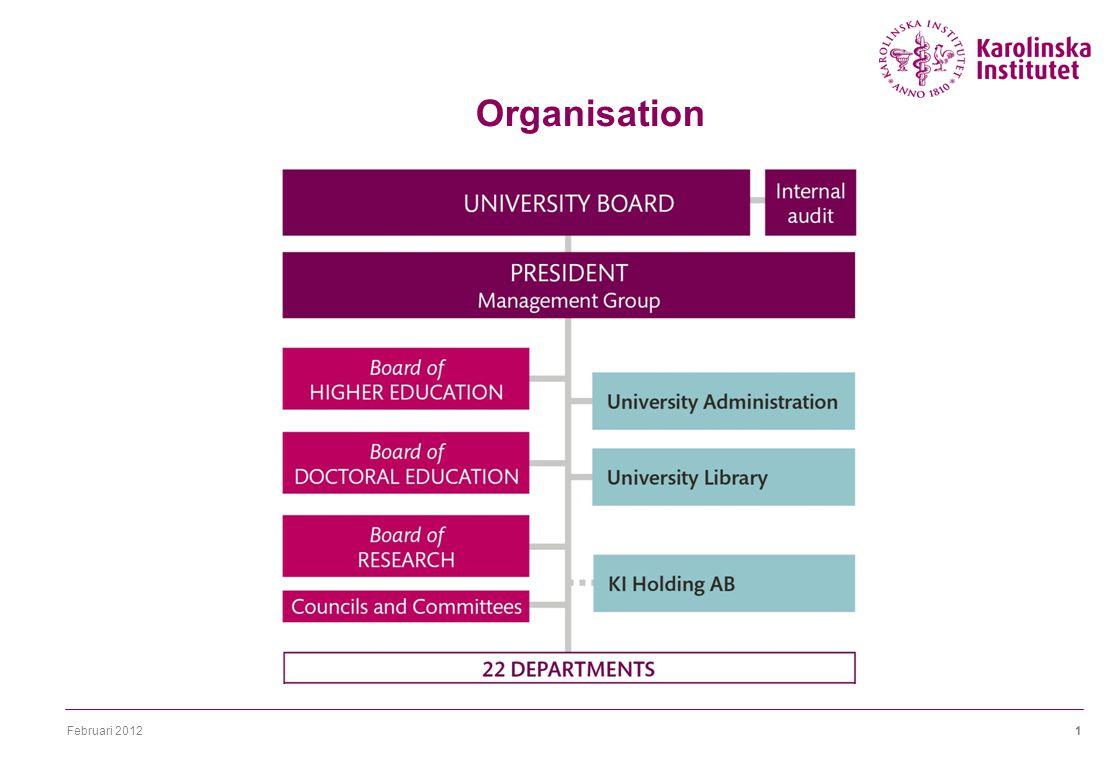 Februari 20121 Organisation 22