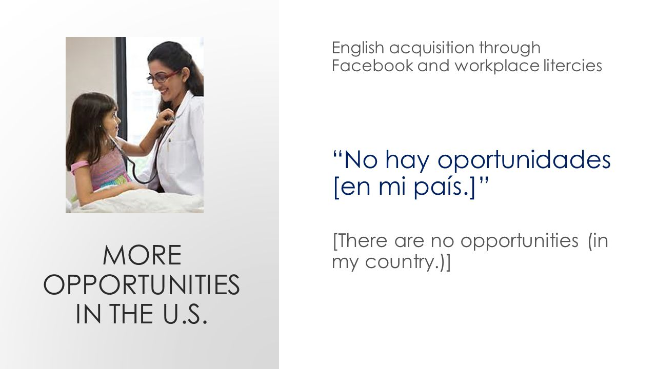 MORE OPPORTUNITIES IN THE U.S.