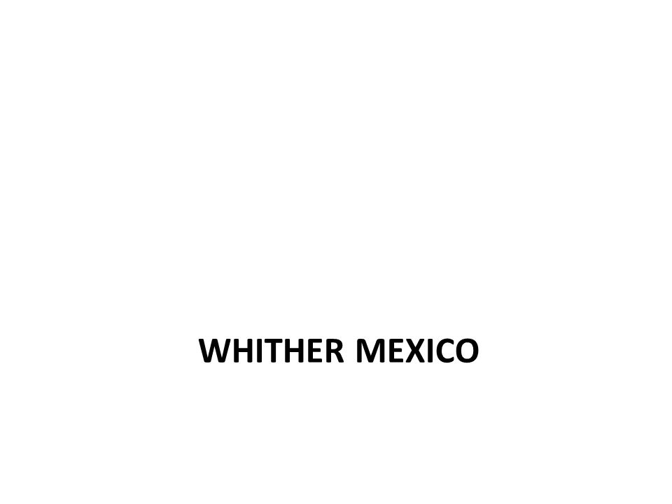 WHITHER MEXICO