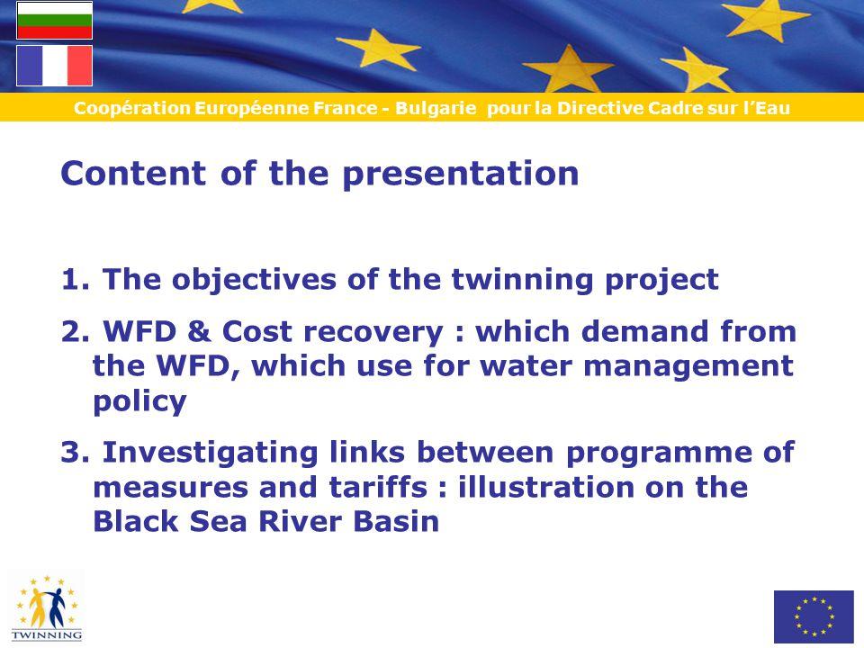 Coopération Européenne France - Bulgarie pour la Directive Cadre sur l'Eau + 7,6 leva /m3