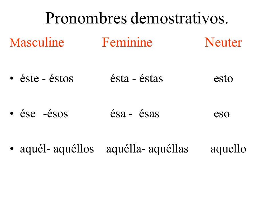 Pronombres demostrativos.