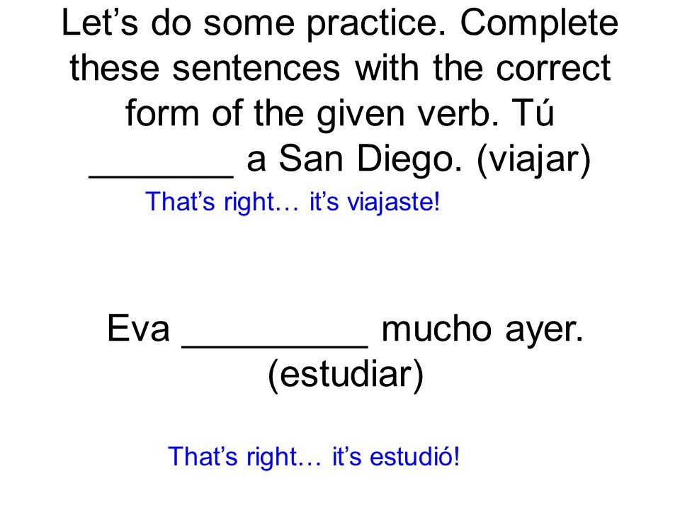 Here's some more practice.Nosotros no _______ a la fiesta.
