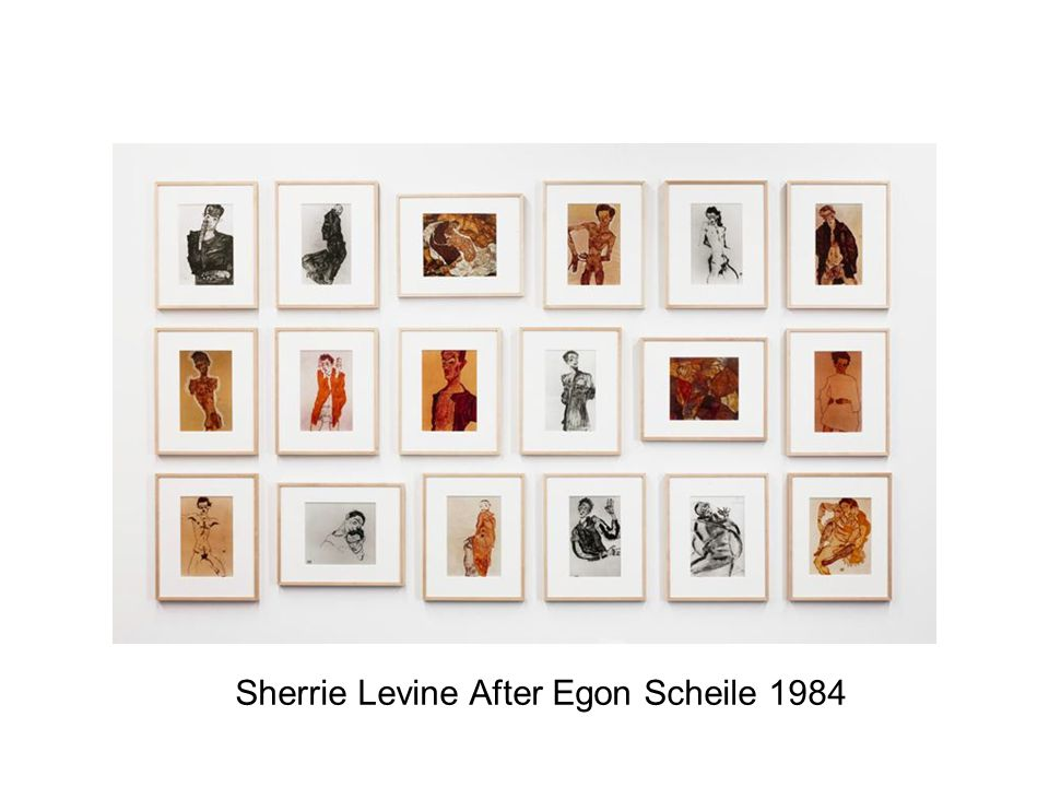 Sherrie Levine After Egon Scheile 1984