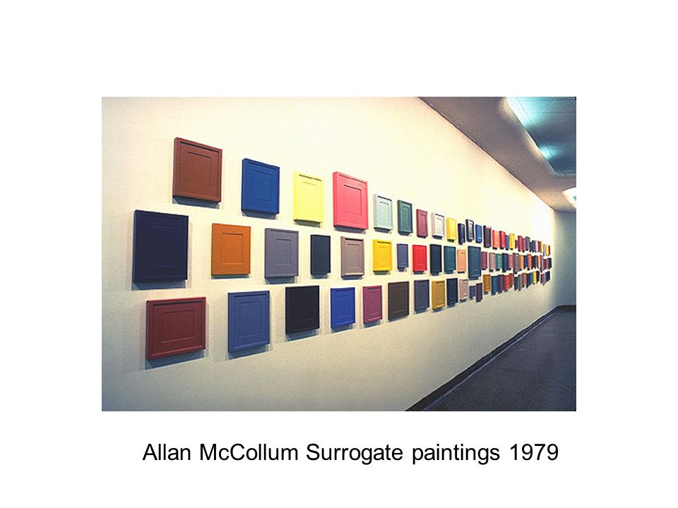 Allan McCollum Surrogate paintings 1979