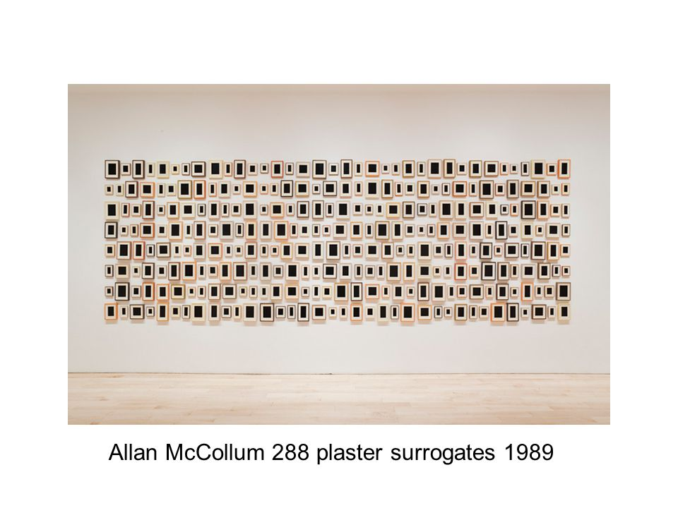 Allan McCollum 288 plaster surrogates 1989