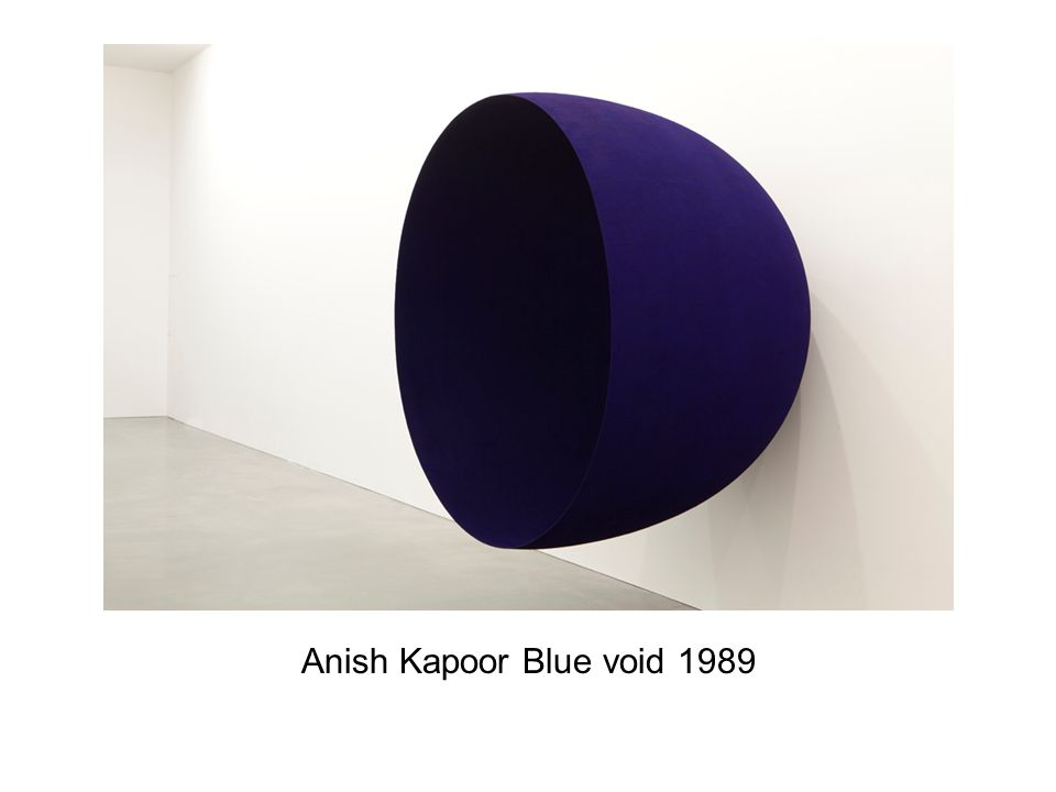 Anish Kapoor Blue void 1989