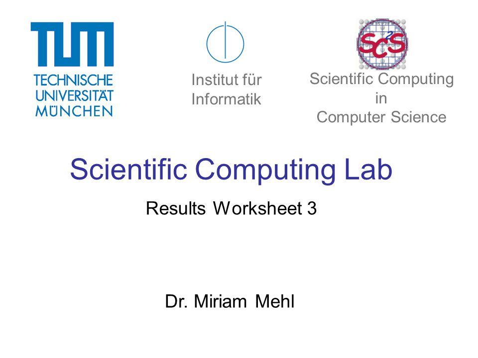 Scientific Computing Lab Results Worksheet 3 Dr.
