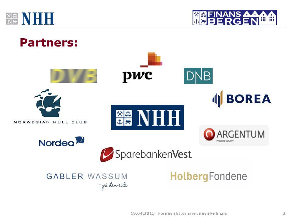 Partners: 19.04.2015Fornavn Etternavn, navn@nhh.no2