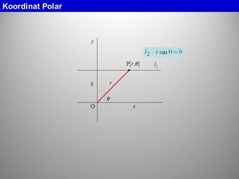 O y x b l2l2 Koordinat Polar r  P[r,  ]