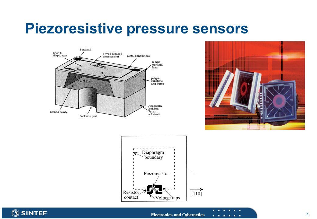 Electronics and Cybernetics 2 Piezoresistive pressure sensors