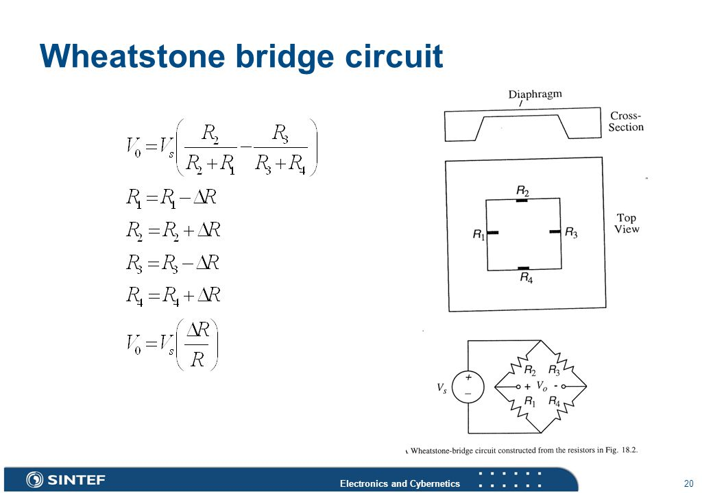 Electronics and Cybernetics 20 Wheatstone bridge circuit