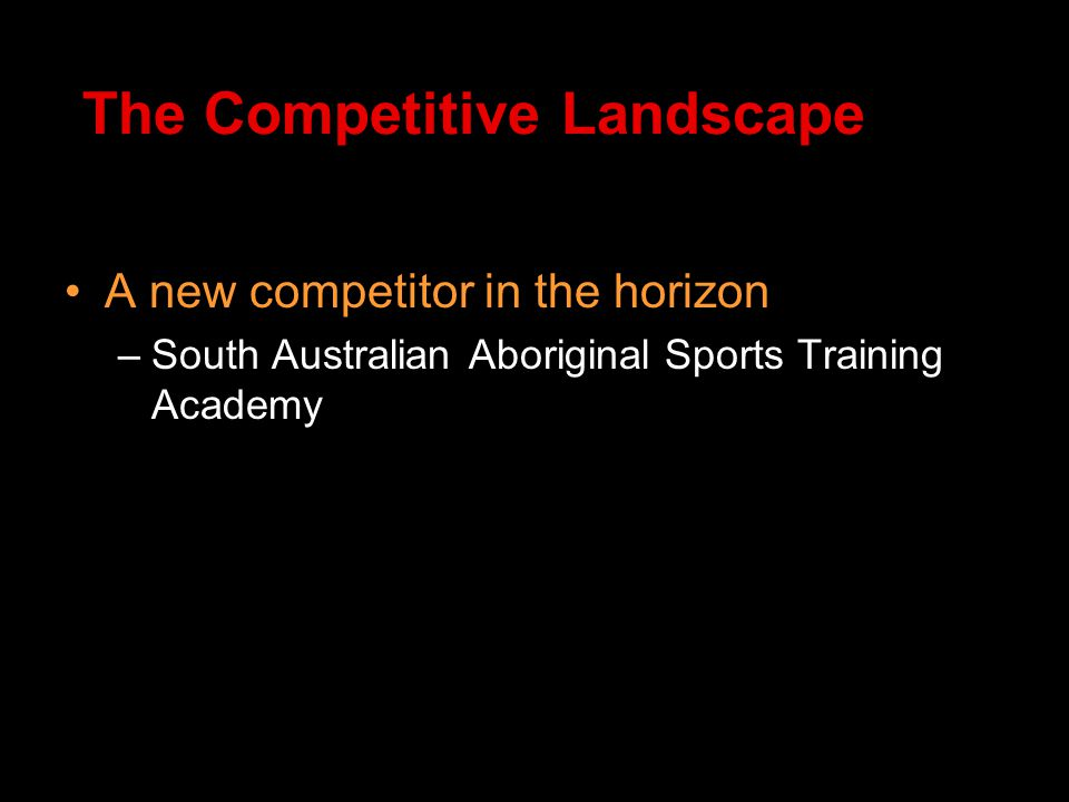 A new competitor in the horizon –South Australian Aboriginal Sports Training Academy