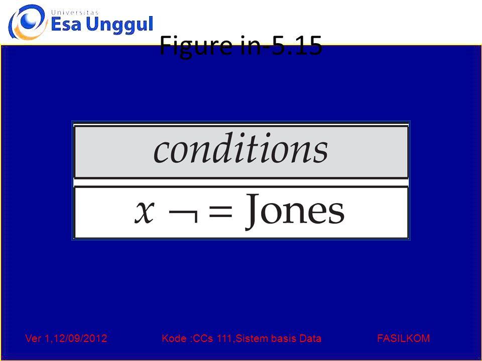 Ver 1,12/09/2012Kode :CCs 111,Sistem basis DataFASILKOM Figure in-5.15