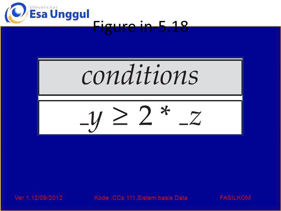 Ver 1,12/09/2012Kode :CCs 111,Sistem basis DataFASILKOM Figure in-5.18