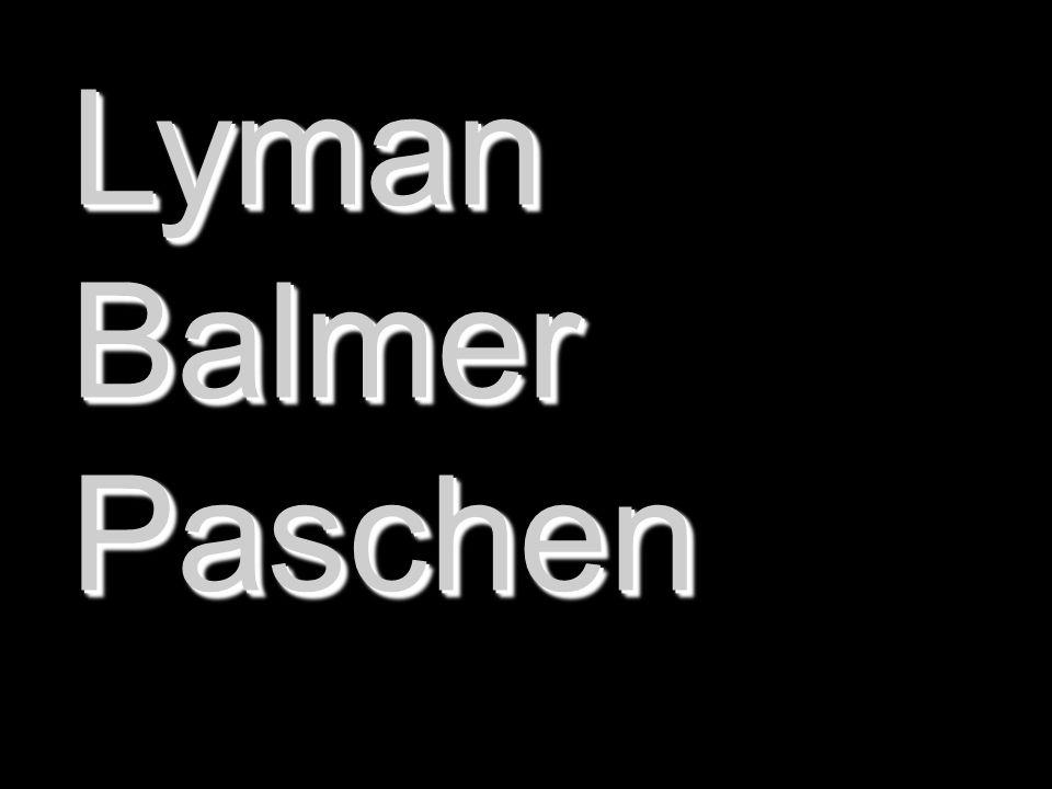 LymanBalmerPaschenLymanBalmerPaschen