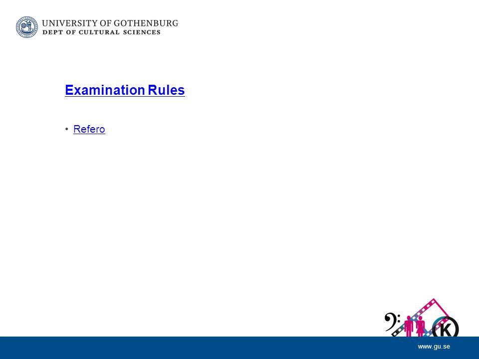 www.gu.se Examination Rules Refero