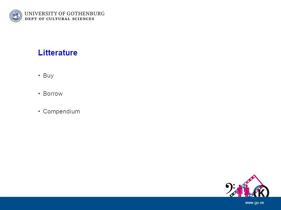 www.gu.se Litterature Buy Borrow Compendium