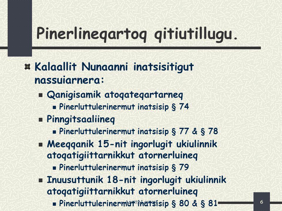 Anette Løwert6 Pinerlineqartoq qitiutillugu.