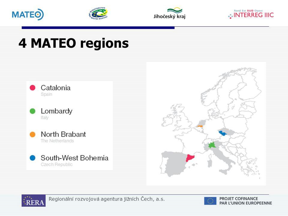 Regionální rozvojová agentura jižních Čech, a.s. 4 MATEO regions