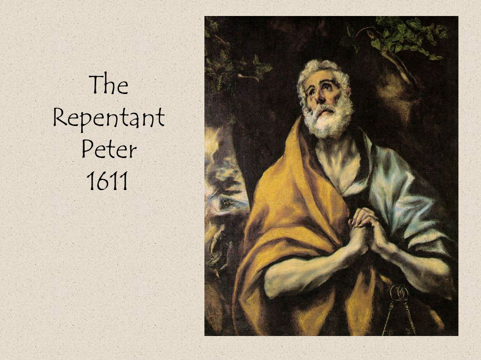The Repentant Peter 1611